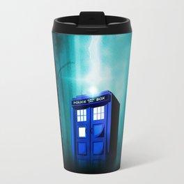 TARDIS BLUE EXPLODES Travel Mug