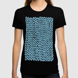 Hand Knit Sky Blue T-shirt