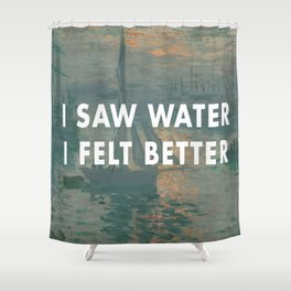I Saw Water x French Sunrise Shower Curtain