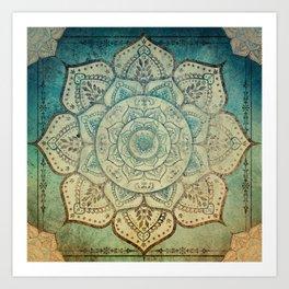 Faded Bohemian Mandala Art Print