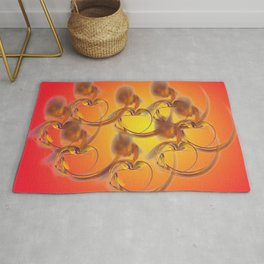 golden hearts Rug