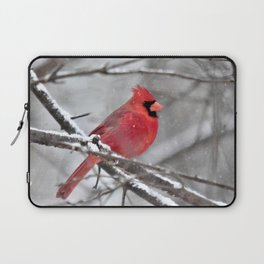 Quiet Time in the Snowy Woods Laptop Sleeve