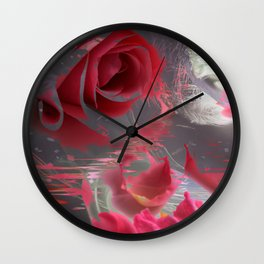The Pink Flowers of That Majestic Dream! Wall Clock