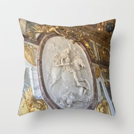 Gilded Nonsense #2: Golden Glory Throw Pillow