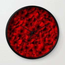 red butterflies Wall Clock