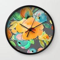 fall Wall Clocks featuring fall by Ariadne