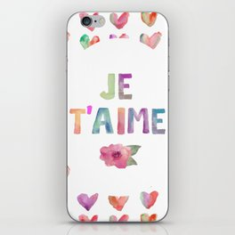 Je T'aime iPhone Skin