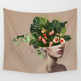 Lady Flowers llll Wall Tapestry