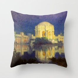 San Francisco Palace of the Fine Arts Temple and Lagoon landscape painting by Colin Campbell Cooper  Throw Pillow