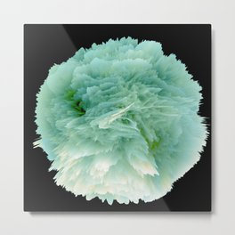 Fantasy Sea Anemone in Green Metal Print
