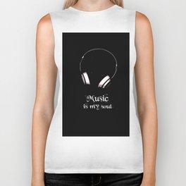 Music Is My Soul Biker Tank