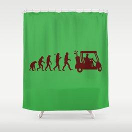 Evolution - golf Shower Curtain