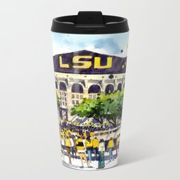 LSU Game Day Metal Travel Mug