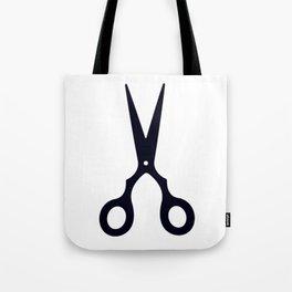 Simple Black Scissors Tote Bag