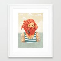 ginger Framed Art Prints featuring Octopus by Seaside Spirit