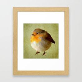 Chubby Bird Framed Art Print