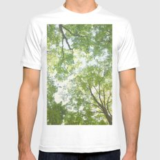 Trees Mens Fitted Tee MEDIUM White