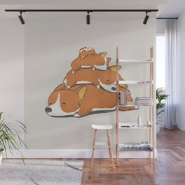Comfy Bed - CORGI Wall Mural