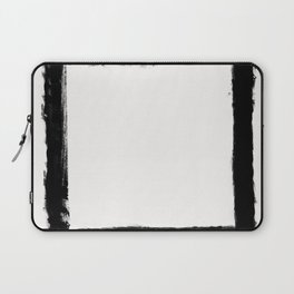 Square Strokes Black on White Laptop Sleeve