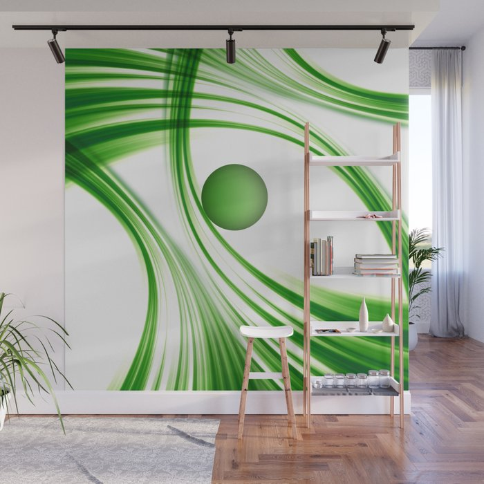 Green 113 Wall Mural