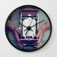 her camera Wall Clock