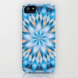 Lotus Flower - blue iPhone Case