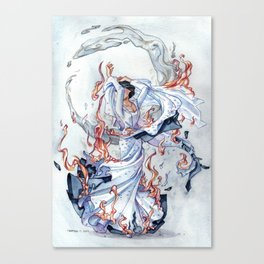 The Bride on fire Canvas Print