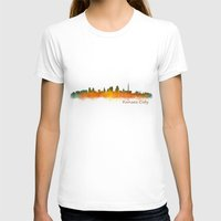 kansas city T-shirts featuring Kansas City Skyline Hq v2 by HQPhoto