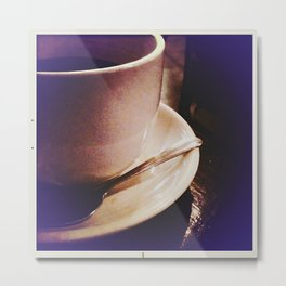Morning Cuppa (coffee makes it all alright) Metal Print