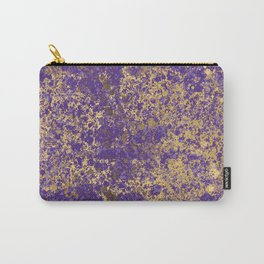 Purple and Gold Patina Design Carry-All Pouch
