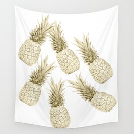 Pineapple Bling Wall Tapestry