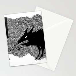 Forground wolf with owl Stationery Cards