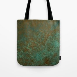 Green Patina Copper rustic decor Tote Bag