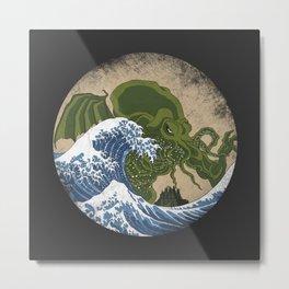 Hokusai Cthulhu Metal Print