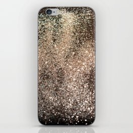 Sparkling GOLD BLACK Lady Glitter #1 #decor #art #society6 iPhone Skin