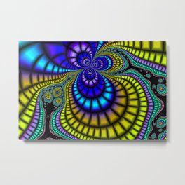 Color Phobia Fractal Metal Print