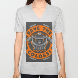 SAVE THE COLOSSUS Unisex V-Neck