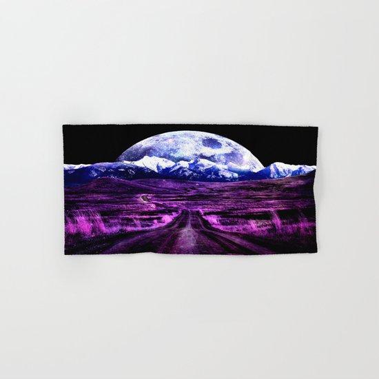 Highway to Eternity (moon mountain) Fuchsia Hand & Bath Towel
