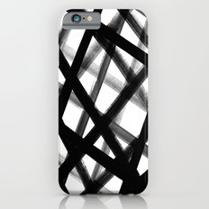 Criss Cross Black and White iPhone 6s Slim Case