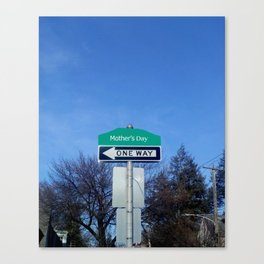 Mother's Day funny design with signpost Canvas Print