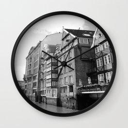 Nikolaifleet Hamburg Wall Clock