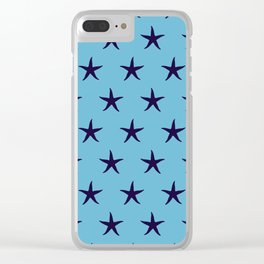 Nautical Seamless Collection 34 - starfish Clear iPhone Case