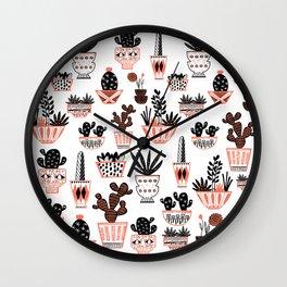 Mid-Century Modern Cacti Wall Clock