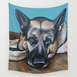 Merlin the German Shepherd Wall Tapestry