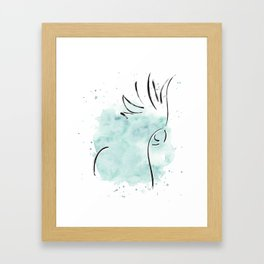 Cockatoo Abstract Brush - Mint Green Framed Art Print