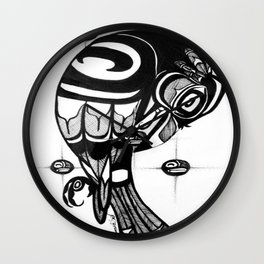 Raven Steals the Stars Wall Clock