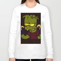 simpson Long Sleeve T-shirts featuring Bart Simpson by Jide