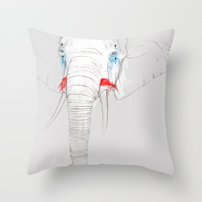 Animalfree circuses - Elephant Throw Pillow
