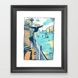 The City vs. Country Framed Art Print