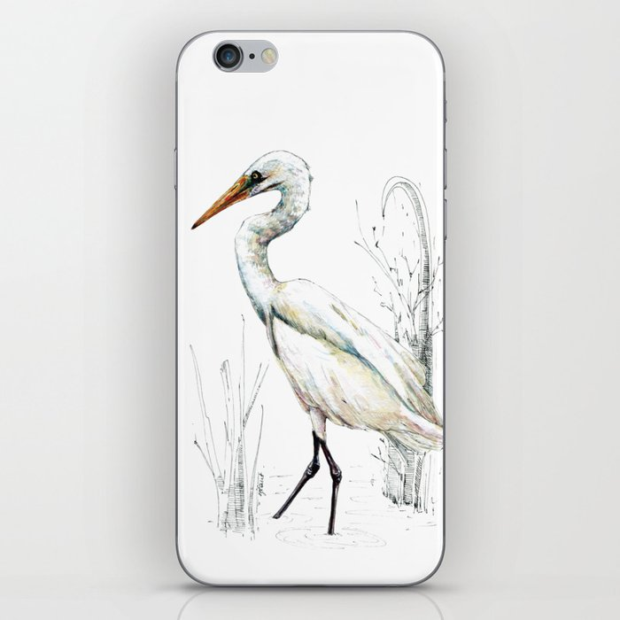 Mr Kotuku , New Zealand White Heron iPhone Skin